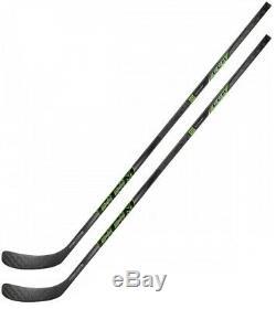 2 Pack CCM RibCor Reckoner PRO STOCK Ice Hockey Sticks Senior Flex