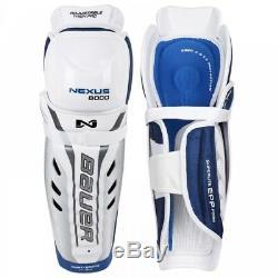 BAUER Nexus 8000 Senior Shin Guards, Ice Hockey Shin Pads, Inline Hockey