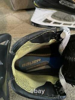 Bauer 2S Pro Size 9.5 EE Senior Ice Hockey Skates with New LS Pulse Steel & Box