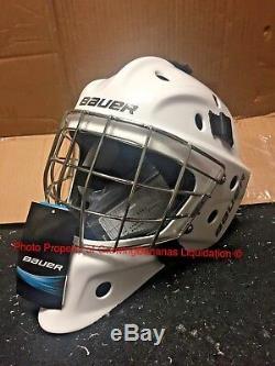 Bauer NME 8 Ice Hockey SR Goalie Mask! Helmet Black White Senior Certified NME8