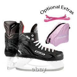 Bauer NS Ice Hockey Skates Junior/Senior Optional Pink Bag, Blade Guards & Tool