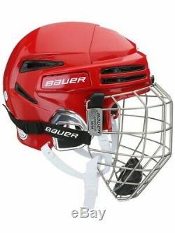 Bauer Re-Akt 75 Combo Ice Hockey Helmet Size Senior