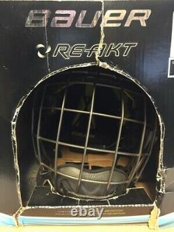 Bauer Senior Re Akt Ice Hockey Helmet Combo Black, Small DM