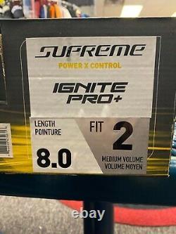 Bauer Supreme Ignite Pro+ Senior Adult Ice Hockey Skate Size 8 Fit 2