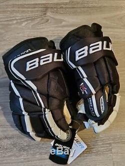 Bauer Vapor 1X Lite Pro Ice Hockey Gloves Black white 14 senior