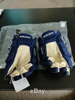 Bauer Vapor 1X Lite Pro Ice Hockey Gloves Navy/White Senior Size 13
