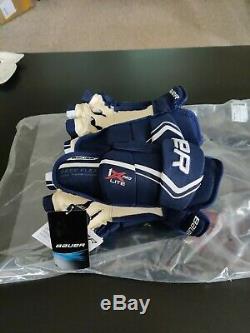 Bauer Vapor 1X Lite Pro Ice Hockey Gloves Navy/White Senior Size 14