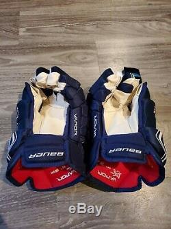 Bauer Vapor 1X Lite Pro Ice Hockey Gloves Navy white 14 senior