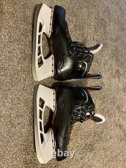 Bauer Vapor X500 Hockey Ice Skates 10.5D 10.5 10 Practically New Adult Senior