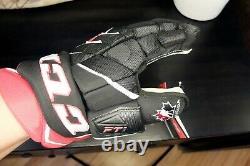 CCM JetSpeed FT1 Senior CANADA team BLACK/RED Ice Hockey Gloves 14 size
