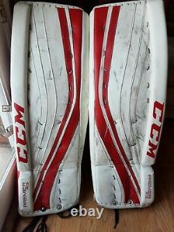 CCM Premier R1.9 34+1 Letevre Ice Hockey Goalie Leg Pads and Knee pads Senior