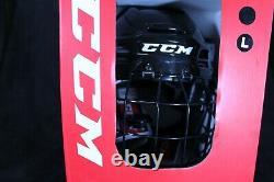 CCM Senior Tacks 910 Ice Hockey Helmet Combo Black Size Large (014)