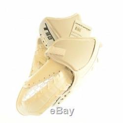Ice Hockey SHER-WOOD T90 Catcher, Goalie Trapper (Cream, Silver, Black) Senior