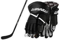 Ice Hockey Stick and Gloves Bundle