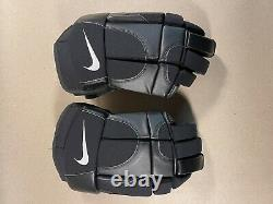 NIKE AIR Ice Hockey Gloves Black Senior Size 14.5 NEW RARE 14 1/2 inch