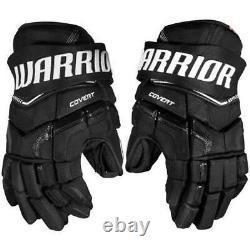 New $199 Warrior QR Edge QRE Covert Senior Ice hockey gloves Black 13 14 15