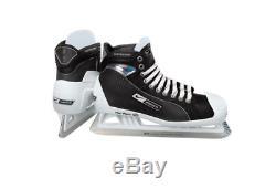 New Bauer One95 Pro Ice Hockey Goalie skates size 9.5D Senior black/white men SR