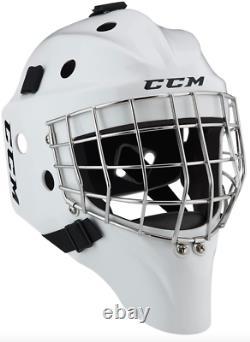 New CCM 1.5 senior goalie mask white ice hockey goal helmet Small/Medium/Large