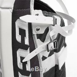 New CCM Extreme Flex E3.9 senior goalie leg pads 35+2 Sr ice hockey Black/Red