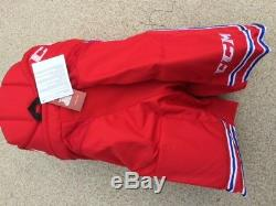 New CCM HP30 Pro Stock ice hockey pants USHL senior M red/blue