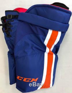 New CCM HP45X Edmonton Oilers Pro Stock/Return Ice Hockey Pants Senior XL blue