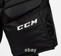 New CCM Premier R1.9 LE Senior Ice Hockey Goalie Pants Medium Black SR M BLK MED