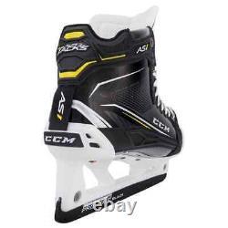 New CCM Super Tacks AS1 Senior Goalie Ice Hockey Skates size 7 EE wide skate SR
