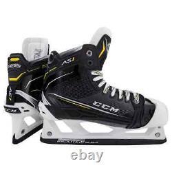 New CCM Super Tacks AS1 Senior Goalie Ice Hockey Skates size 8 D width skate SR