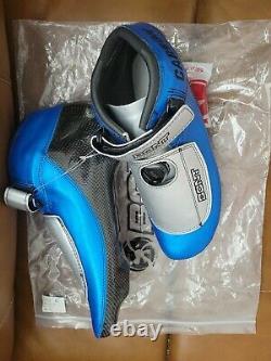 New Short Track Patriot-C Boa V2 Ice Skate Boots Size 9.5 Mens Blue BONT Carbon
