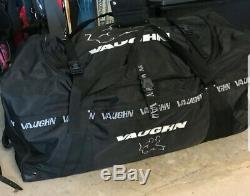 New Vaughn 7800 ice hockey goalie three wheeled bag senior 43 black