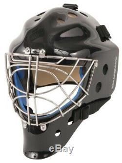 New Vaughn 9500 Cat Eye goal mask black senior medium ice hockey goalie helmet M