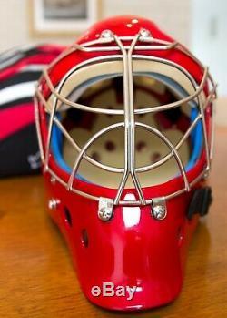 New Vaughn VM 9500 Goal Mask RED Senior Ice hockey goalie helmet-L