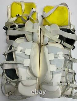 New Warrior Messiah Pro goalie leg pads Blk Yellow 35+1 ice hockey senior goal