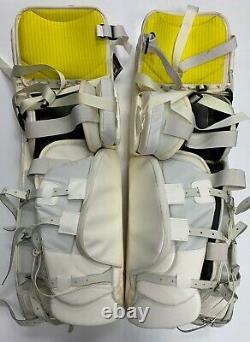 New Warrior Messiah Pro goalie leg pads Navy Red 34+1 ice hockey senior goal SR
