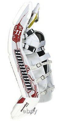 New Warrior Messiah Pro goalie leg pads White Navy 34+1 ice hockey senior goal