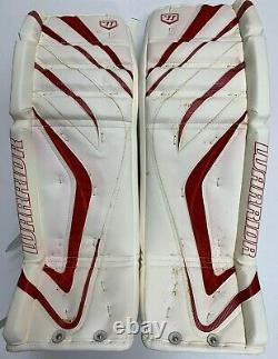 New Warrior Messiah Pro goalie leg pads black red 34+1 ice hockey senior goal