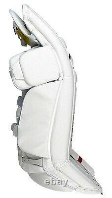 New Warrior Messiah Pro goalie leg pads white/black 35+1 ice hockey senior goal