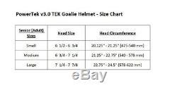 PowerTek V3.0 TEK Ice Hockey Goalie Helmet with Cage Mask, CSA Approved Senior