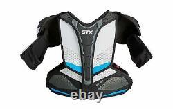 STX Ice Hockey Surgeon RX3 Senior Shoulder Pad Small White/Blue