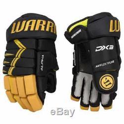 $ 129 Nouveau Guerrier Alpha Black Gold DX 3 Gants De Hockey Sur Glace 11 14 Junior Senior