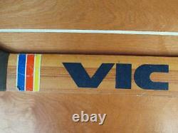 1970 Vintage Victoriaville Bois Hockey Sur Glace Gardien De But Bâton Canada Grand Écran