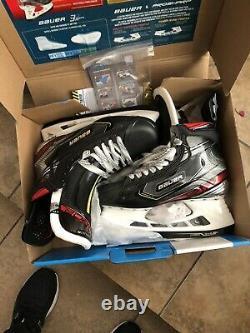 2020 Bauer Vapor Pro 2x Hockey Sur Glace Patins Senior Taille 8 Fit 2. Nouveau Non Sharpened