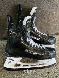 Bauer 2s Pro Taille 9.5 Ee Patins Senior De Hockey Sur Glace Avec Nouveau Ls Pulse Steel & Box