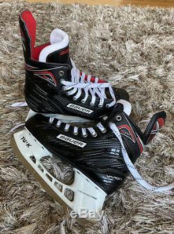 Bauer Principal De Vapeur X350 Hockey Sur Glace Patins Noir / Rouge Taille 6r Us Pointure 7,5