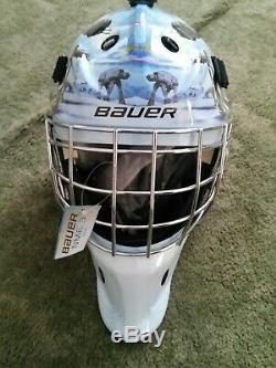 Bauer Senior Nme3 Hockey Sur Glace Goalie Masque De Casque Star Wars Darth Vader Head Sr
