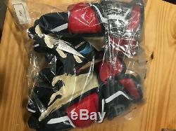 Bauer Supreme 2s Gants Pro Hockey Sur Glace Marine / Rouge Blanc Senior Taille 14