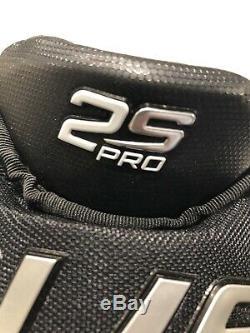 Bauer Supreme 2s Gants Pro Hockey Sur Glace Noir / Blanc Taille Principale 13 Nwot