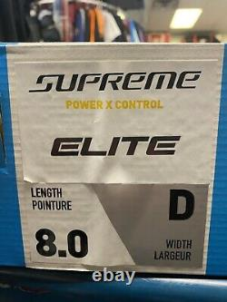 Bauer Supreme Elite Senior Adult Ice Hockey Patins Taille 8d Nouveau! Avec Box