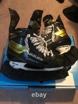 Bauer Supreme Ultrasonic Pro (feutre Noir) Hockey Sur Glace Skates Senior 10.0 Fit 3