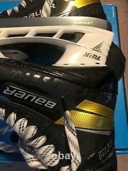 Bauer Supreme Ultrasonic Pro (feutre Noir) Patins De Hockey Sur Glace Senior 10.0 Fit 3